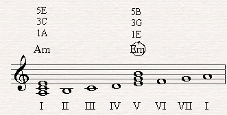 Em is the original dominant of Am in the natural minor scale but it just ain't strong enough.