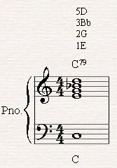 Omitting the root note from the bottom of the chord to prevent an empty octave.