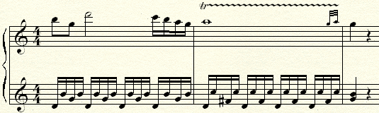 An example ofa Trill with a turn in a piece by Mozart.