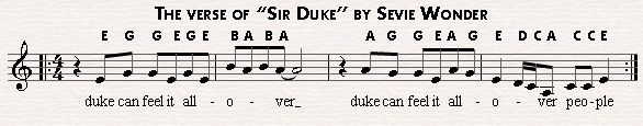 Sir Duke is based on the pentatonic scale. The verse is almost fully based on it.