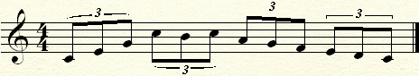 Various notation of triplets