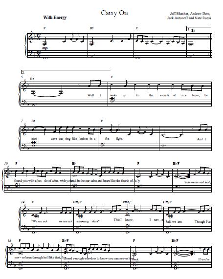 Carry On Fun Piano Tutorial