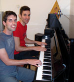 Eyal and me during our piano lesson