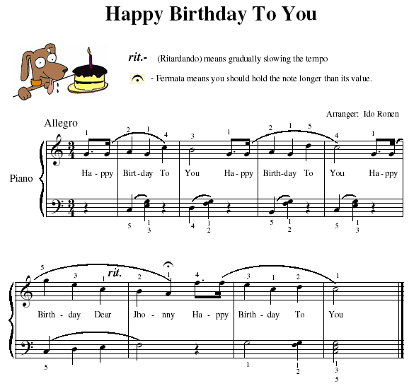 happy birthday music notes for facebook