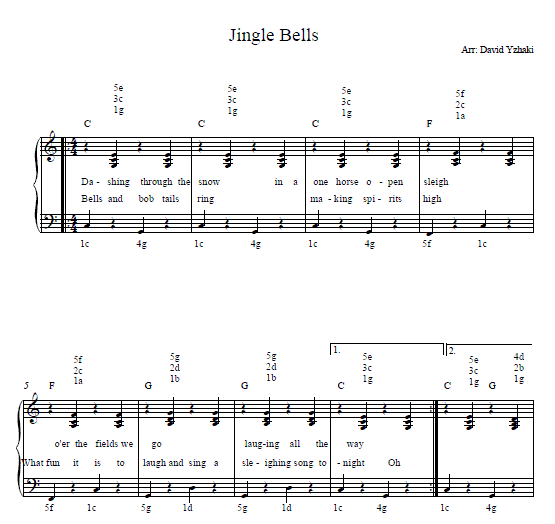 The Jingle Bells Free Piano Tab.