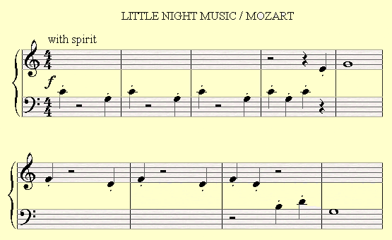 A Quarter Rest in the fifth symphony by Beethoven