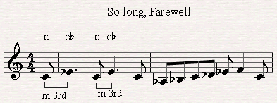 Melodic third in the song So long, rarefell (sound of music).