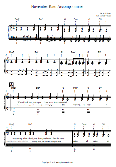 Here's a piano free piano tab to help you practice the song the way we ...
