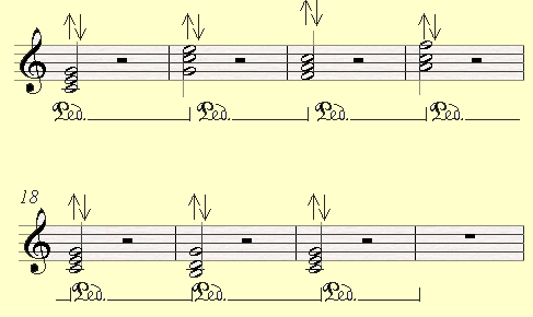 A piano pedal exercise, working on using the piano pedal to connect between the jumps.