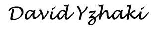 David Yzhaki's personal Signature