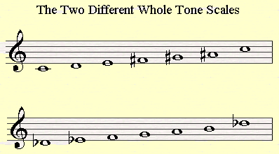 The two main whole tone scales