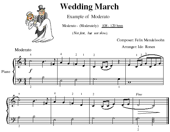 Wedding March - Play Moderato