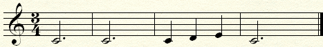 Expending a musical phrase with a triplet to three quarters.