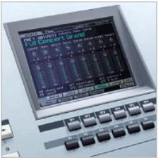 Yamaha Motif XS8 Display Screen.