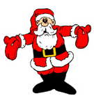 A Cartoon of Santa Claus.