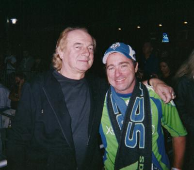 Me and Alan White (drummer for YES and drummer on Imagine by John Lennon)