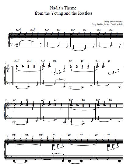 Nadia's Theme Piano Tab