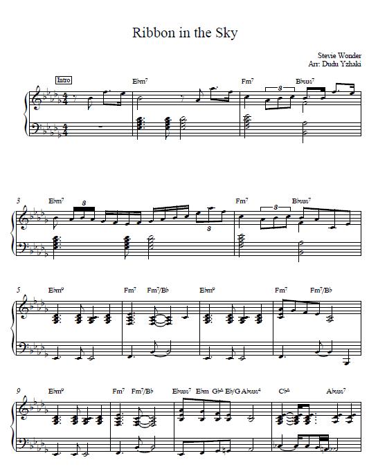 Ribbon in the Sky piano tutorial Stevie wonder